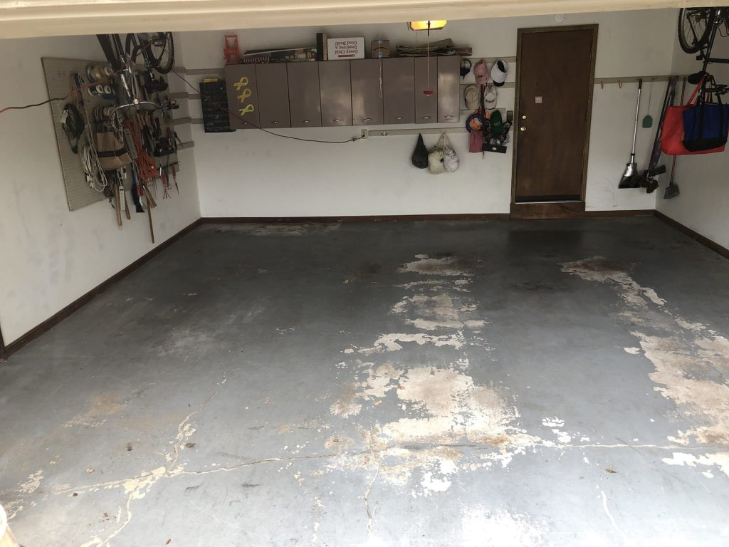 Before [Flake] California Grey with white base-Colonial Park